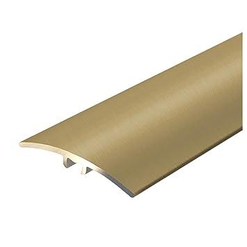 Breite 36 mm 100 cm gelochte Abdeckleiste zum Schrauben Alu /Übergangsprofil Firm C Form eloxiert Gold