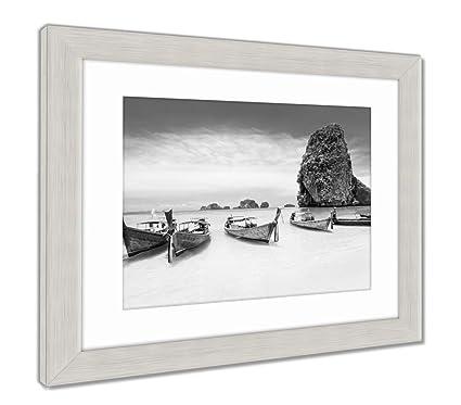 Amazon.com: Ashley Framed Prints Longtale Boat, Wall Art Home ...
