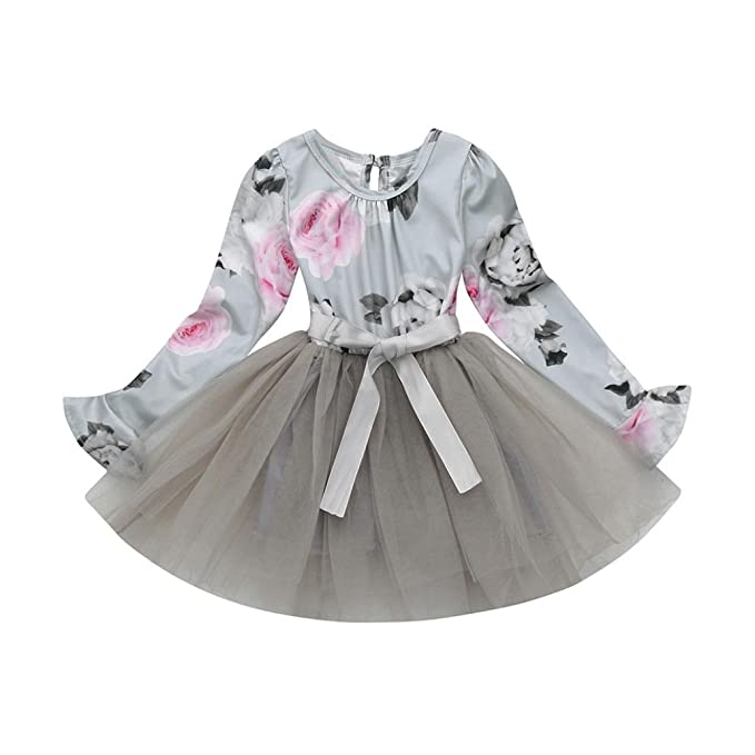 K-youth® Vestidos Niña Wedding Party Birthday Dress Tutú Princesa Vestido de Fiesta Ropa