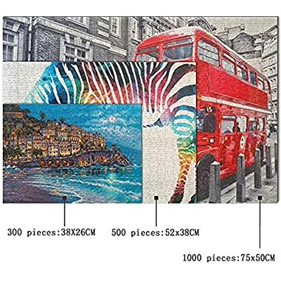 1000 Pieces Adult and Children Jigsaw Wooden Jigsaw Game Toy Jigsaw Floor Puzzle Home Decor Wall Art-Pirate Ancient World map: Toys & Games