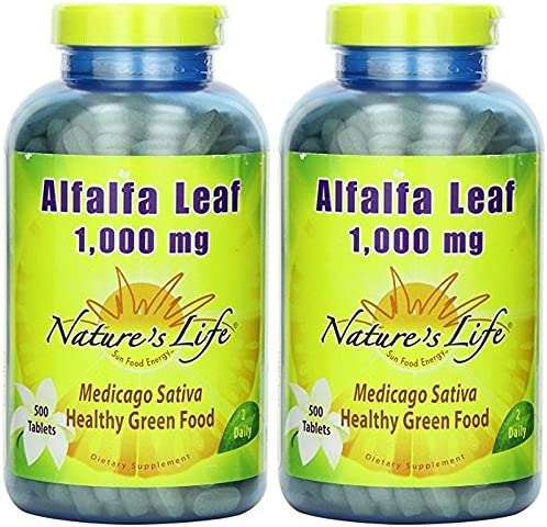 Alfalfa Leaf 1000mg – Vegetarian Nature s Life 500 Tabs