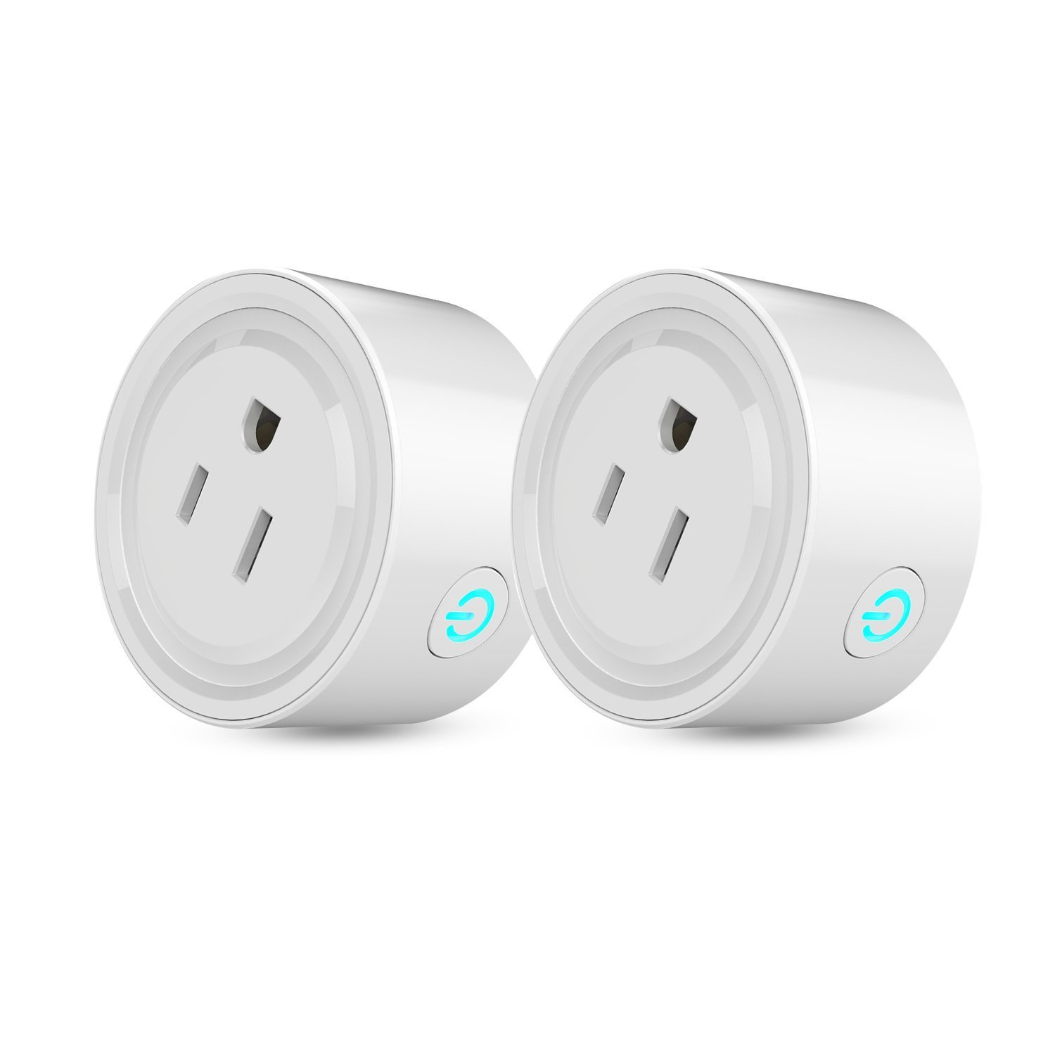 Smart Plug Wi-Fi Mini Socket Outlet Compatible with Alexa Wireless Control Your Devices from Anywhere, ETL Certificated Timing Function For Smart Phone Voice Control for Home Appliances (2 pack)