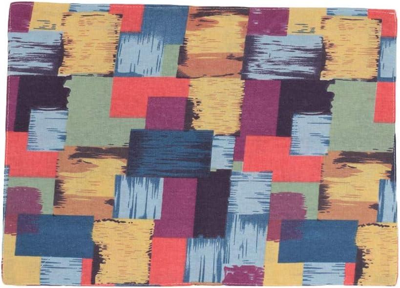Flsell - Mats & Pads - 1 Pcs Rectangle Colorful Plaid Cotton Linen Tableware Pads Dining Table Cup Bowl Mat Decoration - Pads Mats &