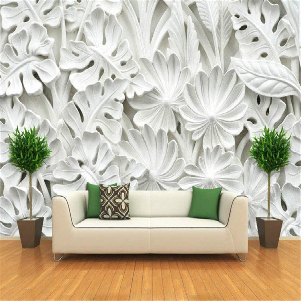 ADDFLOWER Hoja Patrón Escayola Murales Relieve Papel tapiz 3D para ...