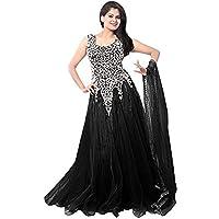 VKARAN Women's Net Semi-stitched Gown