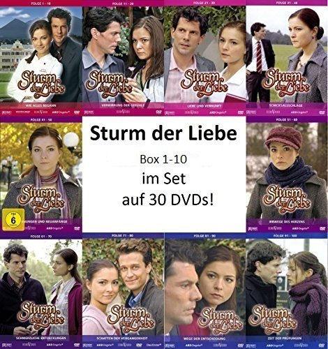 Sturm Der Liebe Dvd Box 01 10 Folge 01 100 30 Dvds Amazon