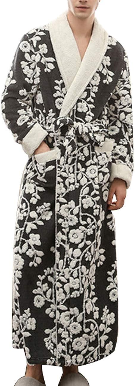 Zoulee Women Man Couple Bathrobe Full Length Plush Soft Fleece Sleepwear Robes
