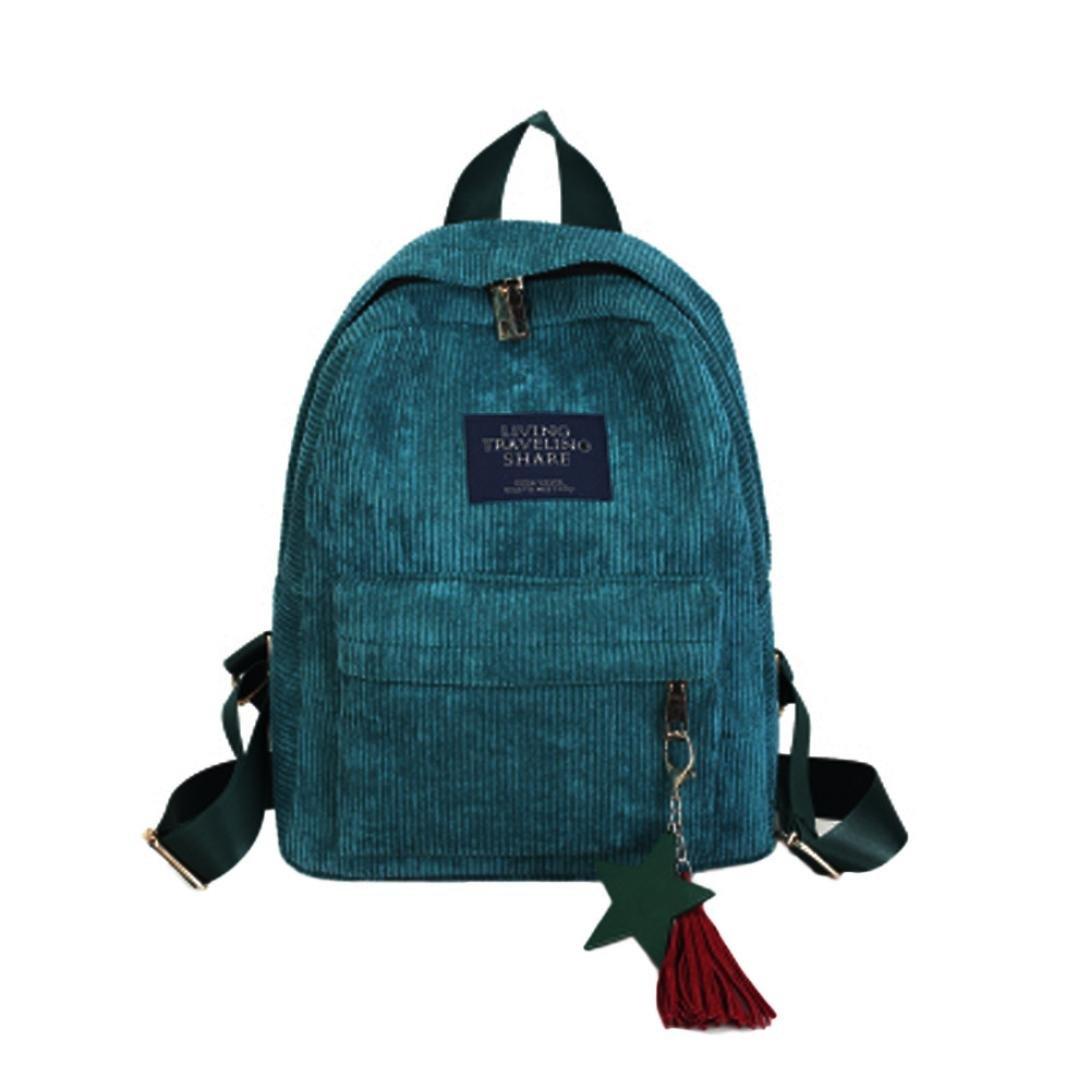 Remiel Store女性のファッションキャンバススクールバッグ旅行バックパックバッグ One_Size グリーン B076P69TDX  グリーン