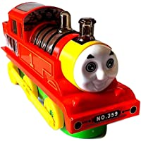 Forever Kidzz Battery Operated 4D Flash Electric Train Engine Toy with Lights & Sound (A)