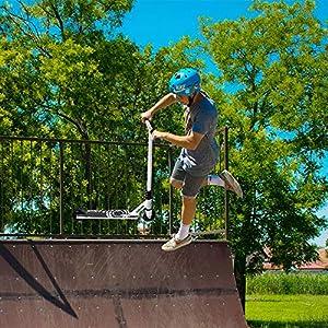 Albott Trottinette Freestyle Pro Stunt Scooter Trottinette Enfant-Résistante aux Acrobaties et Sauts-Pont lger en Aluminium-ABEC 9 Roulements-Roues de 100mm-Plusieurs Coloris Disponibles
