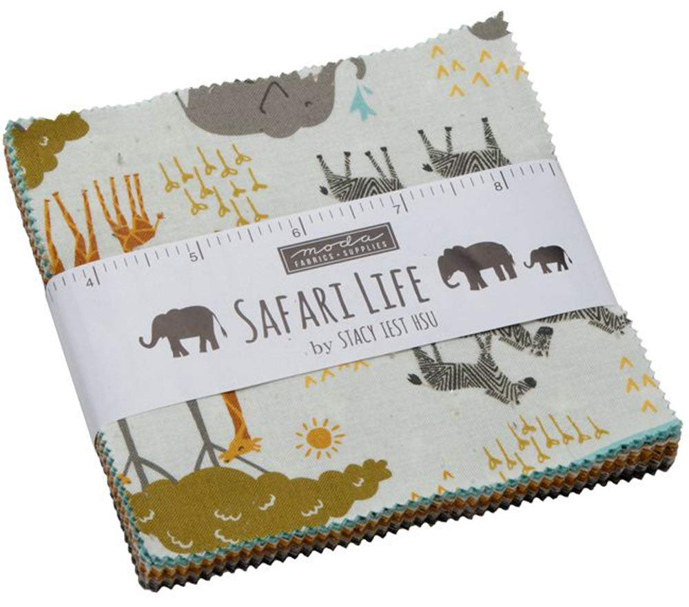 Safari Life Charm Pack by Stacy Iest HSU; 42-5 Precut Fabric Quilt Squares