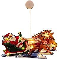 HEITIGN Kerst LED Vensterverlichting, Kerst Verlichte Venster Decoraties Sfeerverlichting, Zuignap Batterij Aangedreven…