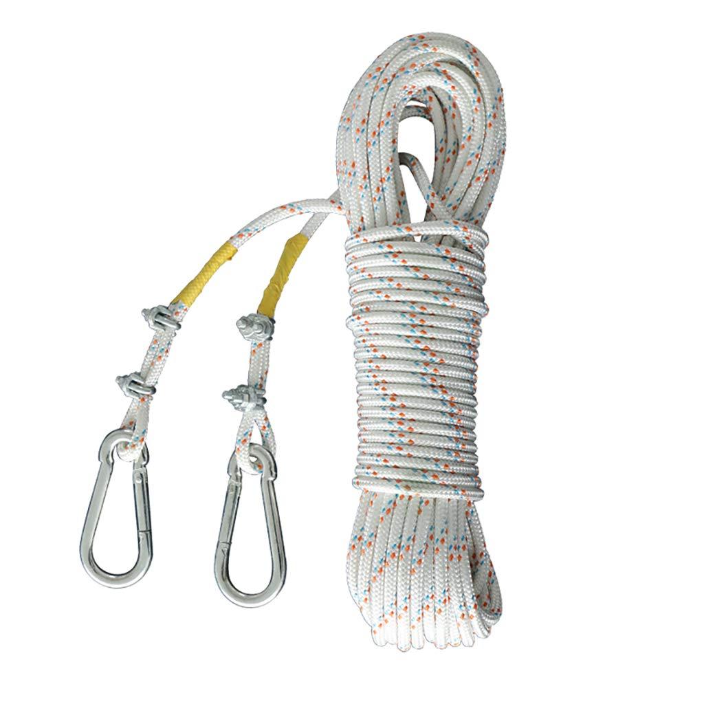 Actualizar LBYMYB Corde d'urgence en Acier pour Corde d'escalade Corde d'escalade extérieure 8mm Longueur 10 15 20 30 40   50m Corde d'escalade (Couleur   Actualizar, Taille   20M) 20M
