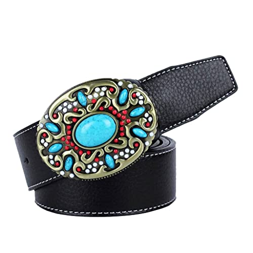 MagiDeal Cintura Di Cuoio Turchese Indiano Occidentale Nativo Americano Donna Cowgirl Accessori Moda...