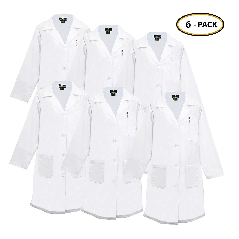 Natural Uniforms De las mujeres Ropa de trabajo profesional Labcoat XX-Pequeño Blanco: Amazon.es: Ropa y accesorios