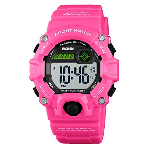 Boys Camouflage LED Sports Watch - Gold Watch for Kid