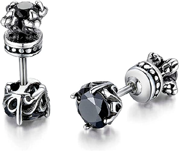 Stainless Steel Jewelry Cluster Earrings 7 mm 13 mm Blue Crystal Triangles Post Earrings