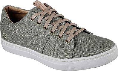 Mens Skechers Alven Manto Memory Foam Sneaker Light Grey