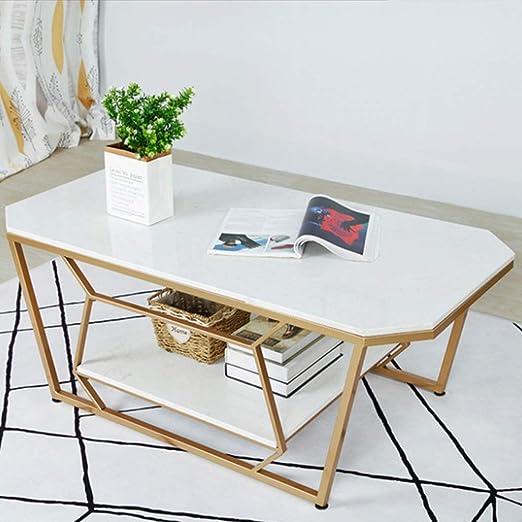 Muebles De Sala Rectángulo Mármol Mesa De Centro Diseño Moderno ...