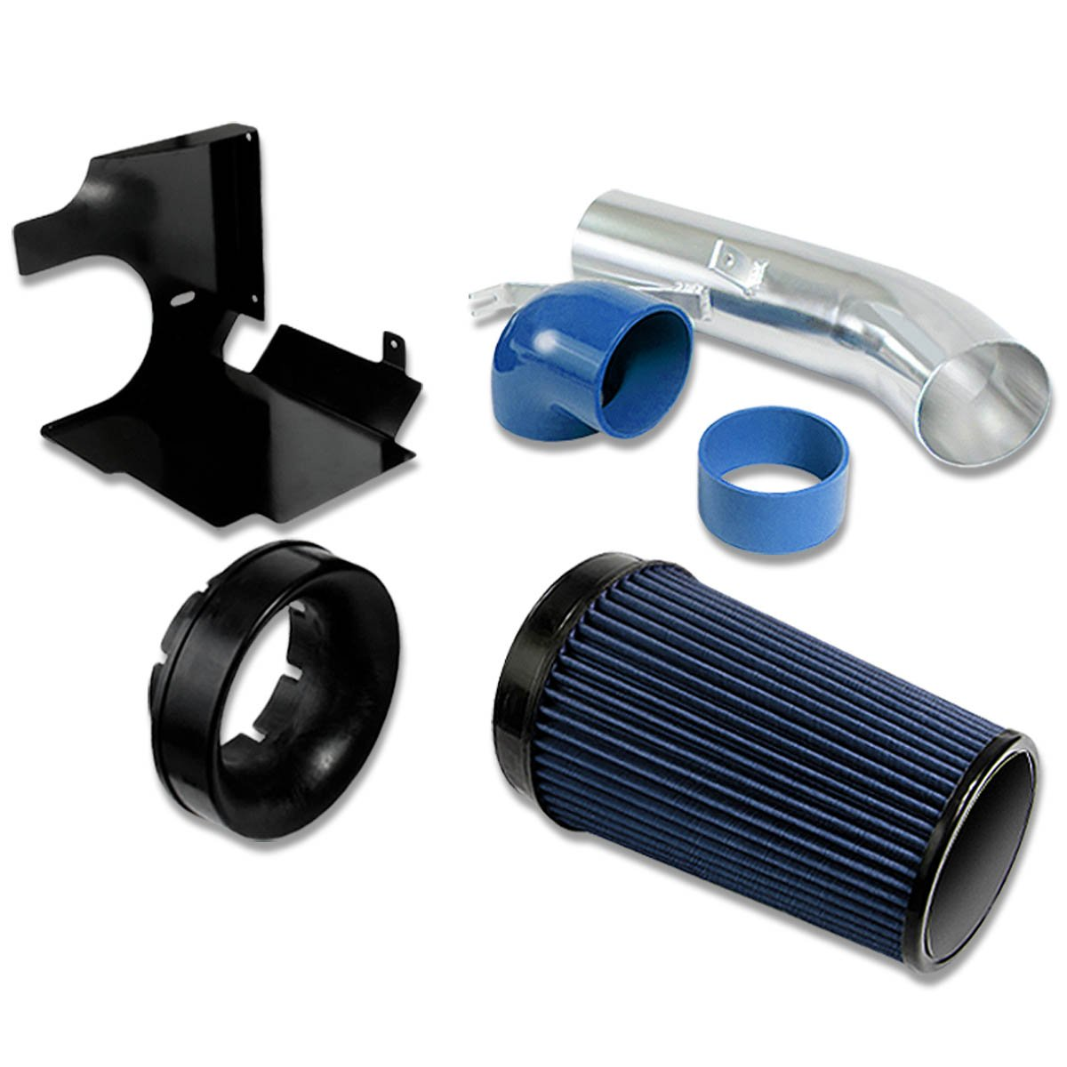 DNA Motoring CAI950021BL Cold Air Intake Pipe+Heat Shield System [For 02-06 Cadillac Escalade ESV EXT]