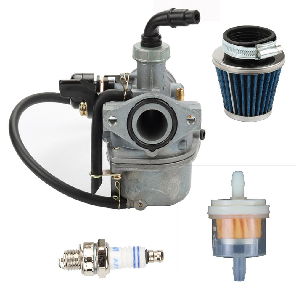 Butom Carburetor + Air Fuel Filter +Spark Plug For YAMAHA PZ19 Cable Choke Pit Dirt Bike ATV Scooter Moped Go-Kart Carb Roketa SUNL 50CC 70cc 90CC 110CC 125cc 150cc