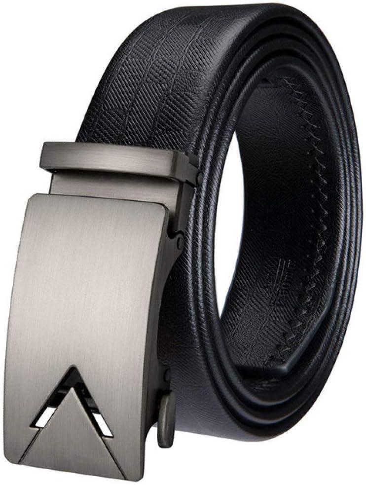 XULINGKE Ceinture Ceinture pour Homme avec Bracelet en Cuir Boucle Automatique Ceinture pour Homme Ceinture pour Homme Noir AK-2013-DE-A