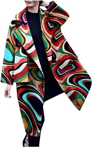 Femme Cardigan Imprimé Aztèque Femmes à Manches Longues Ouvert Cardigan Grandes Tailles