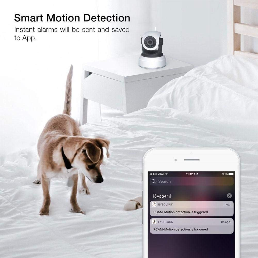 ZZY Wi-Fi Security Camera For Home, IP Network Wireless Cam HD CCTV Surveillance Webcam System With Auto/Pan/Tilt/Zoom/Night Vision Remote/ by ZZY (Image #3)