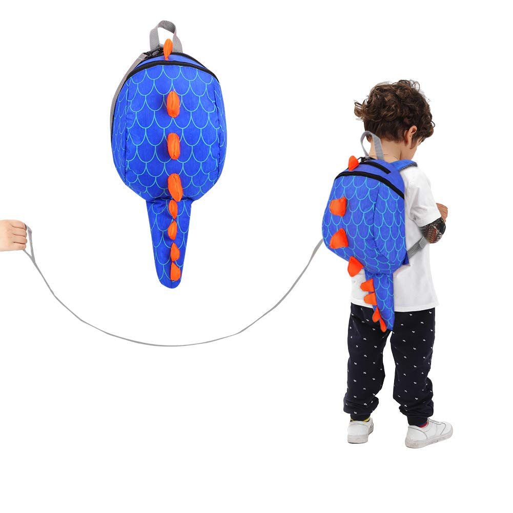 Accmor Toddler Harness Backpack, Cute Dinosaur Anti-Lost Baby Backpack Leash, Mini Child Safety Harness Backpack with Leash for Boys Girls, Lightweight & Breathable
