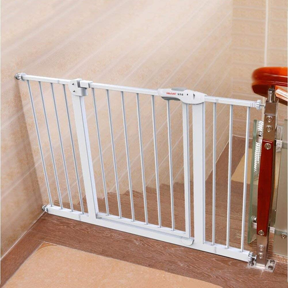 NOOYC Puerta de Seguridad para Las Puertas, sin taladrar Extra Estrecha Barrera Seguridad Barrera de Seguridad Multicolor Easy Close Puerta de la Escalera 82-200cm Ancha,10291454427260925_92-100cm: Amazon.es: Hogar