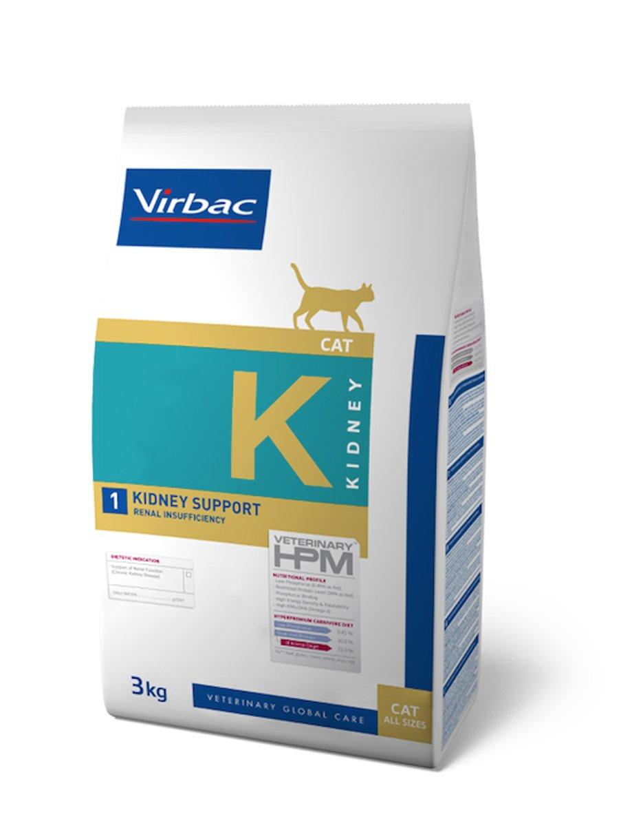 Virbac Veterinary HPM Cat Kidney Nourriture pour Chat Sac de 3 kg Taille M 1817830