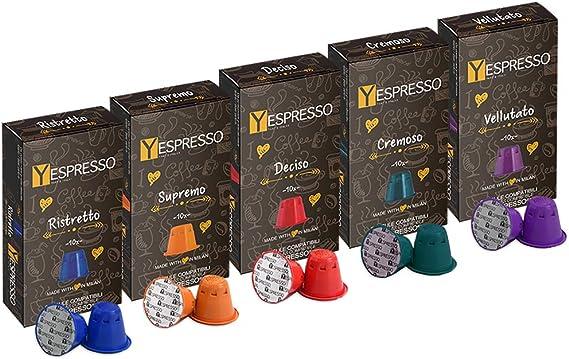 100 capsulas GRAND CRU compatibles con NESPRESSO - 5 mezclas ...