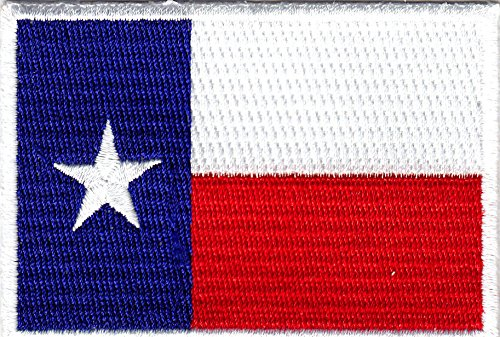 TEXAS STATE FLAG - LONE STAR STATE - STATE OF TEXAS - Iron On Embroidered Patch