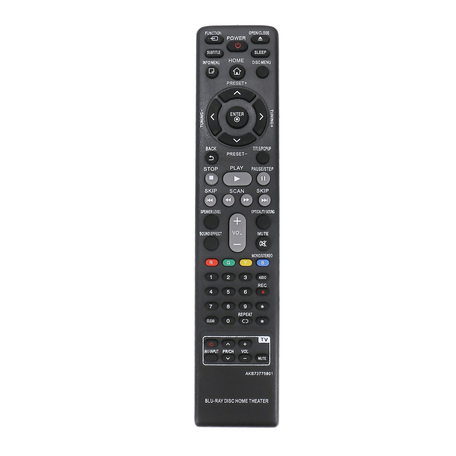 New AKB73775801 Replace Remote Control fit for LG Blu-Ray Home Theater System BH4030S BH4530T BH5540T BH6540T LHB655 S43S1-W S54T1-S S63T1-W S64H1-W.