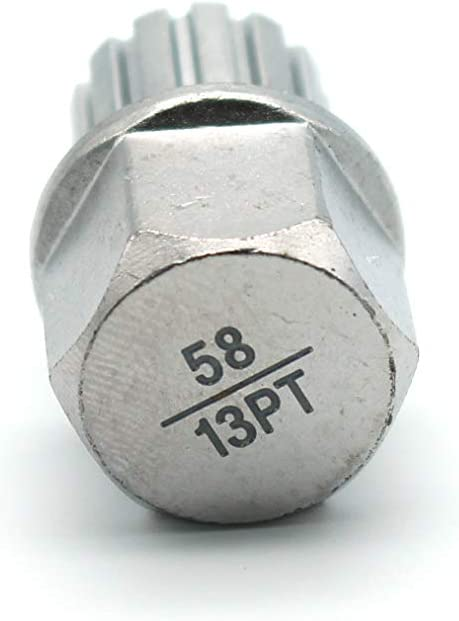 TEMO 56//11PT Wheel Lock Lugnut Anti-Theft Lug Nut Screw Removal Key Socket S3057 for VW Audi