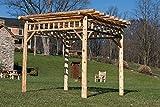 Cedar Log 8' x 8' PERGOLA - Rustic Brown Stain