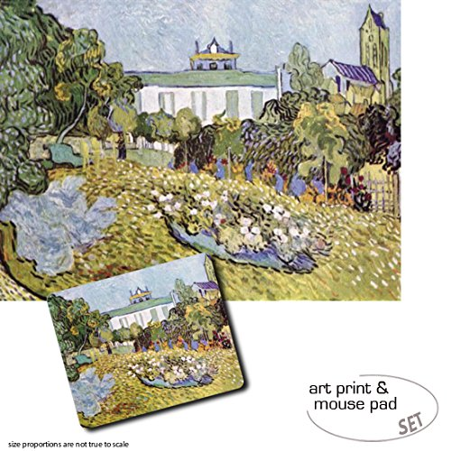 Set Impresión Regalo: 1 Póster Impresión Set Artística (80x60 cm) + 1 Alfombrilla para Ratón (23x19 cm) - Vincent Van Gogh, Daubigny's Garden, 1890 88334a