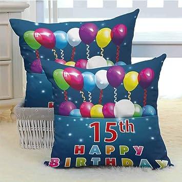 Amazon.com: Khdkp - Fundas de almohada cuadradas decorativas ...