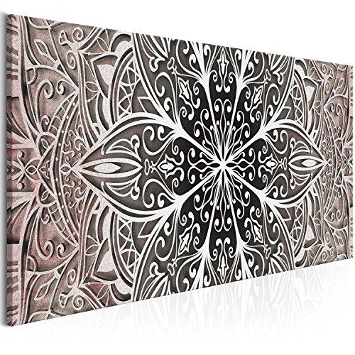 murando Cuadro en Lienzo Mandala 150x50 cm 1 Parte Impresion en Material Tejido no Tejido Impresion Artistica Imagen Grafica Decoracion de Pared - Oriental Zen f-A-0672-b-c