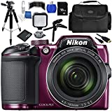 Cheap Nikon COOLPIX B500 Digital Camera (Purple) Bundle with Accessory Kit (13 Items)