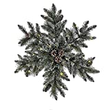 Kurt Adler P7505LED 32'' Battery-Operated Pre-Lit LED Snowflake Wreath