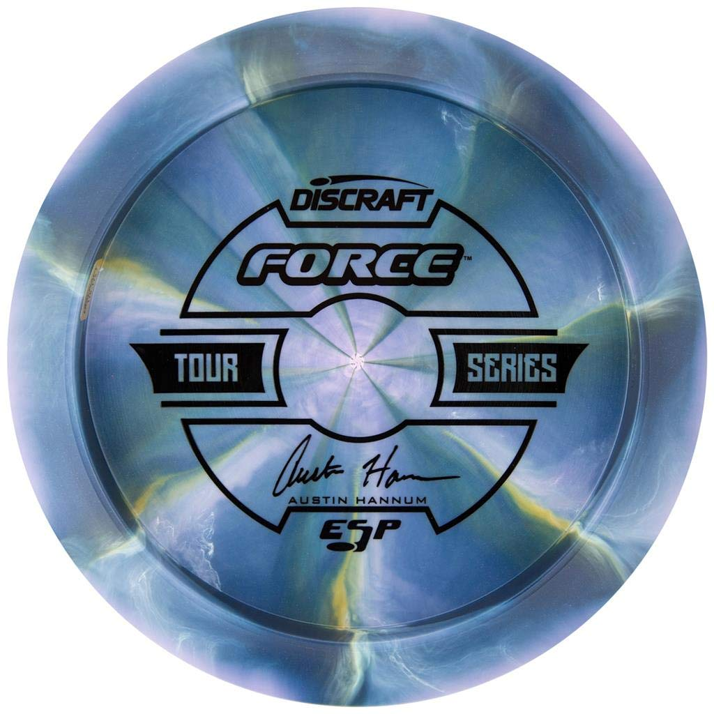 Discraft Limited Edition 2019 Tour Series Austin Hannum Understamp Swirl ESP Force Distance Driver Golf Disc [Colors May Vary] - 170-172g by Discraft Golf Discs