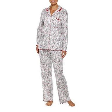 Secret Treasures Womens Ivory Floral Modal Knit Pajamas (L ...