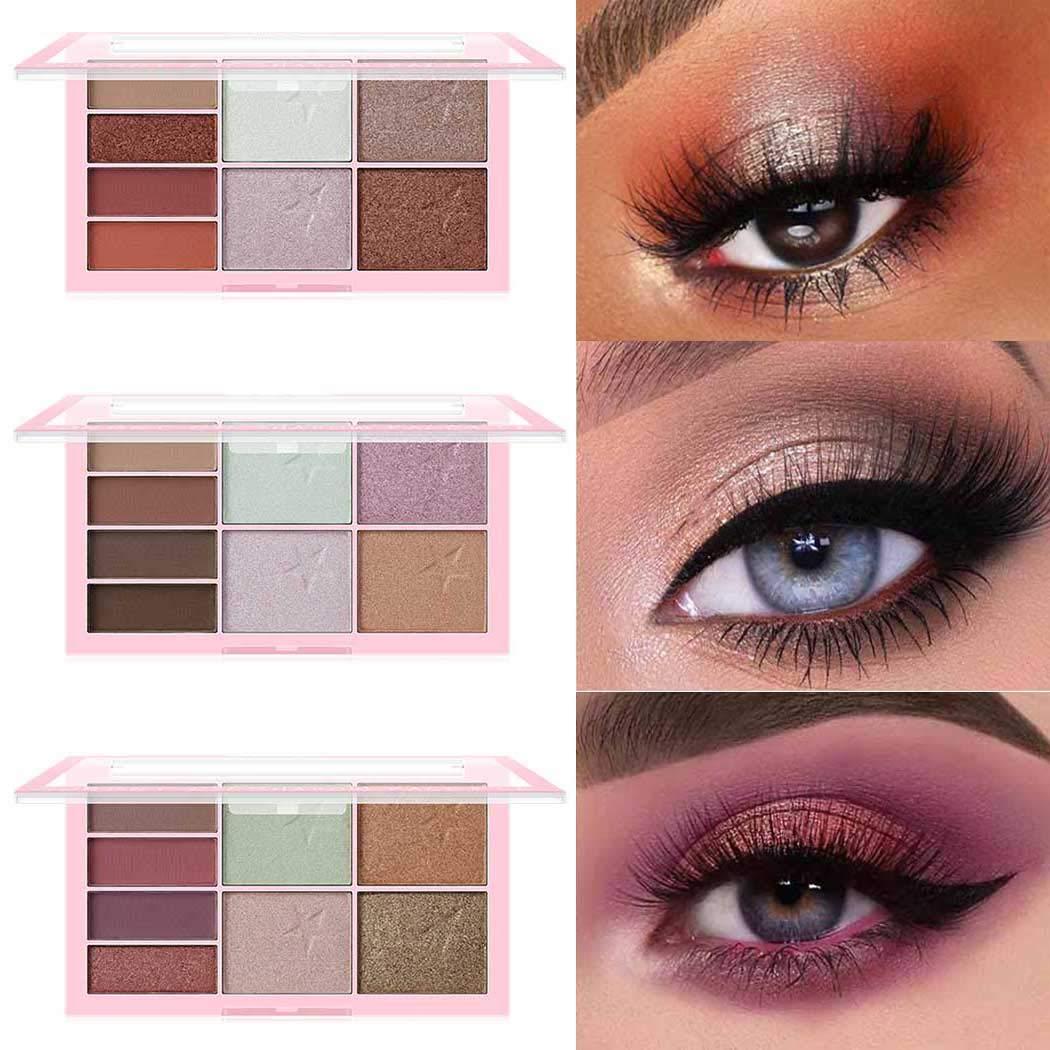 Edanta Matter Eyeshadow Highly Pigmented Eye Shadow Waterproof Eyeshadows Palette Glitter Blend 8 Colors Eyes Shadow Long Lasting Eyes Make Up Pallet Set for Women and Girls Pack of 1 (Pink 2)