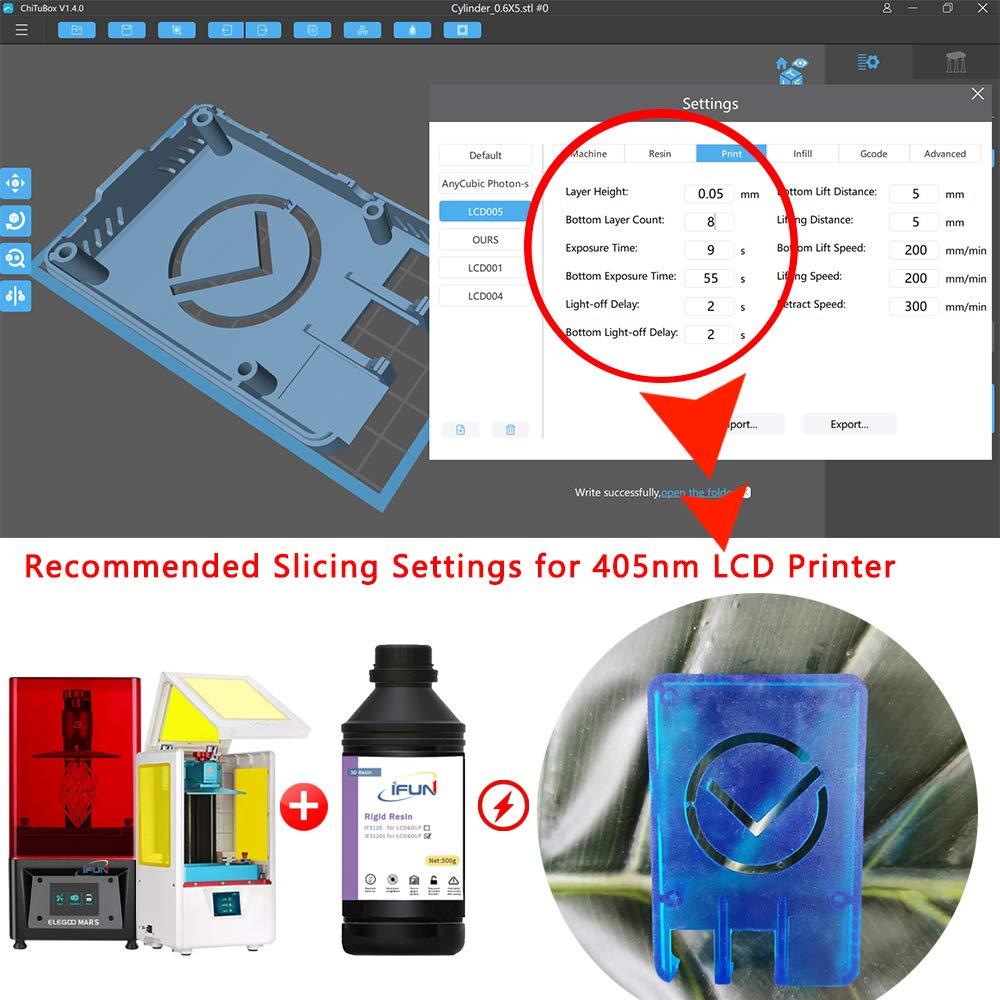 IFUN 3D Resina HiTemp Resistente Rígida Resina rígida para LCD DLP ...