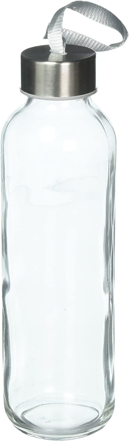 Seacoast LYSB06X1FKWW6-SPRTSEQIP FBA_LYSB06X1FKWW6-SPRTSEQIP Seacoast-18 OZ. Glass Bottles, 18/10 Stainless Steel Cap with Easy to Carry Loop (6 Pack, 4 Pack, 2 Pack Available) (2)