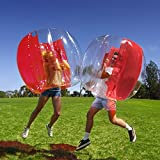 Holleyweb Bumper Balls Zorb Balls 4' Inflatable Bubble Soccer Ball for Adults and Kids (Only 1 Red)