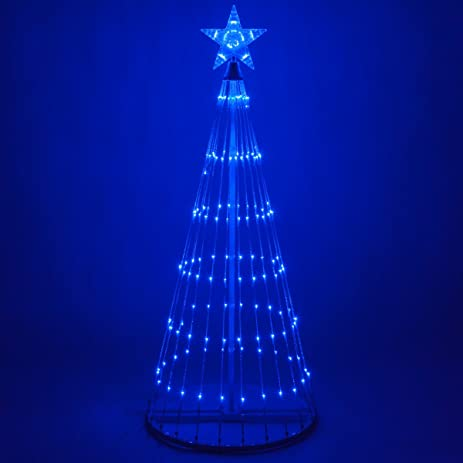 14 function led light show cone christmas tree outdoor christmas decorations 6 - Amazon Outdoor Christmas Decorations