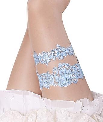 4f7d5d754df Blue Garters for Bride Garter Set for Bride Wedding Blue Garter Belts Lace Bridal  Garter (