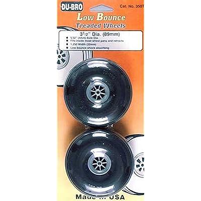 """Du-Bro 350T 3-1/2"""" Diameter Treaded Surface Wheel (2-Pack): Toys & Games"""